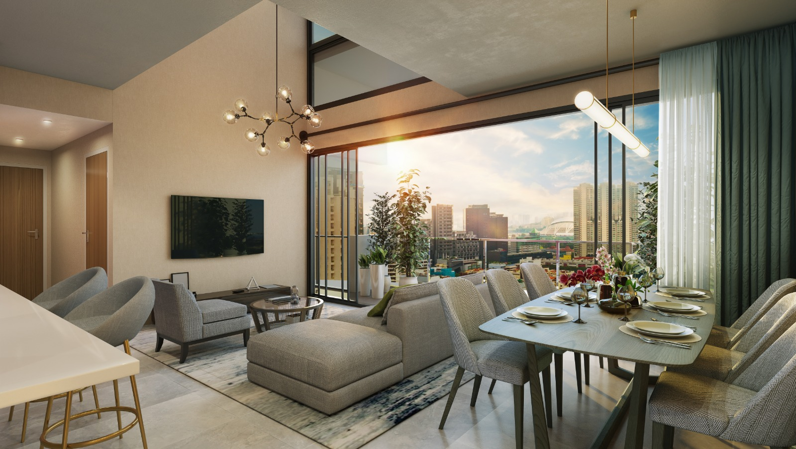 Uptown-at-farrer-Showflat-Living-Dining